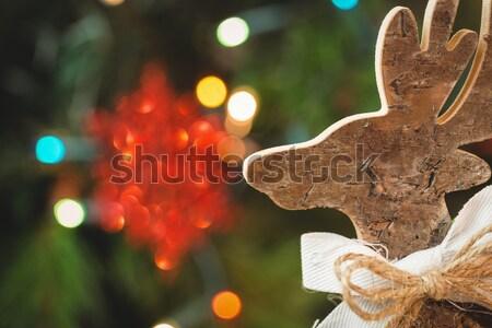 Ahşap Noel ren geyiği zaman ev Stok fotoğraf © wavebreak_media