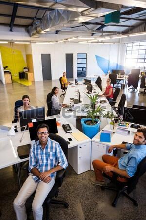 команда бизнеса цифровой таблетка Сток-фото © wavebreak_media