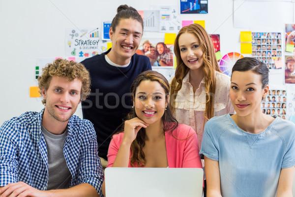 Portrait souriant bureau ordinateur femme Photo stock © wavebreak_media