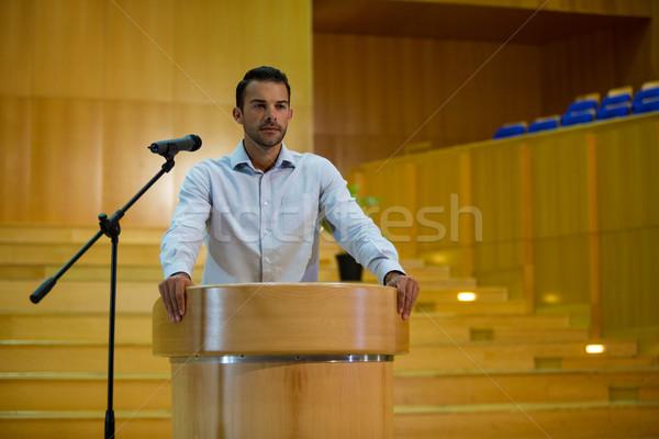 Business Executive Rede Mann glücklich Geschäftsmann Stock foto © wavebreak_media