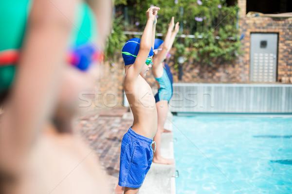 小 常設 水 女孩 健身 健身房 商業照片 © wavebreak_media