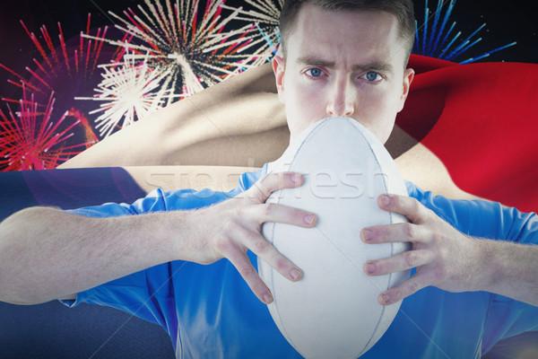 Foto stock: Imagem · rugby · jogador