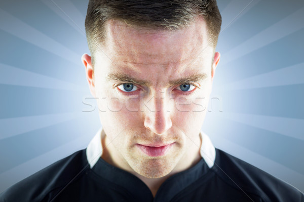 Composite image of a rugby player looking down Stock photo © wavebreak_media