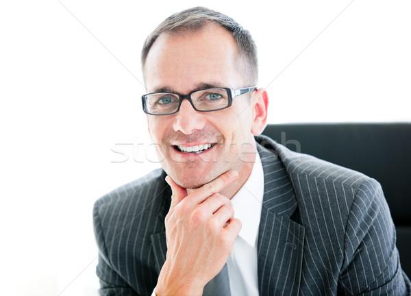Portrait souriant affaires bureau heureux Photo stock © wavebreak_media