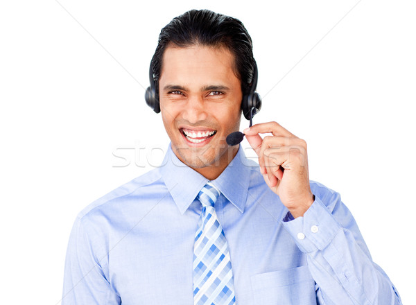 Ethnic businessman with headset on Stock photo © wavebreak_media