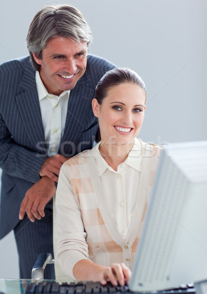 Portrait of a businesswoman and her manager working at a compute Stock photo © wavebreak_media
