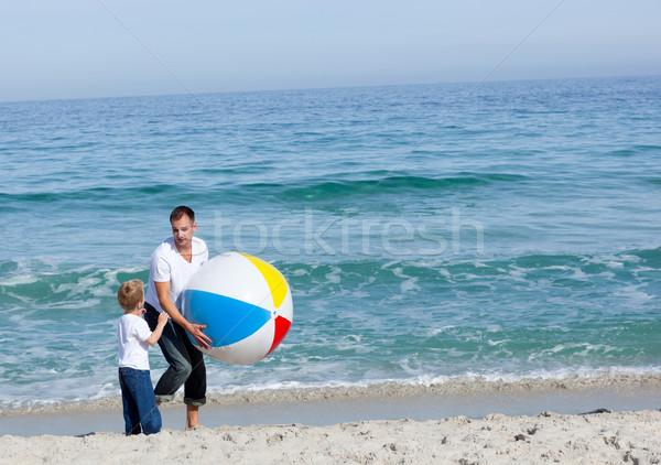 Father and his son having fun  Stock photo © wavebreak_media