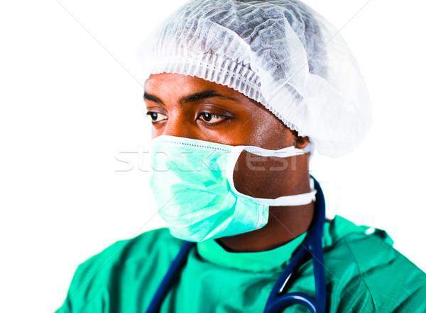 Stock fotó: Sebész · idős · kórház · arc · orvos · munka