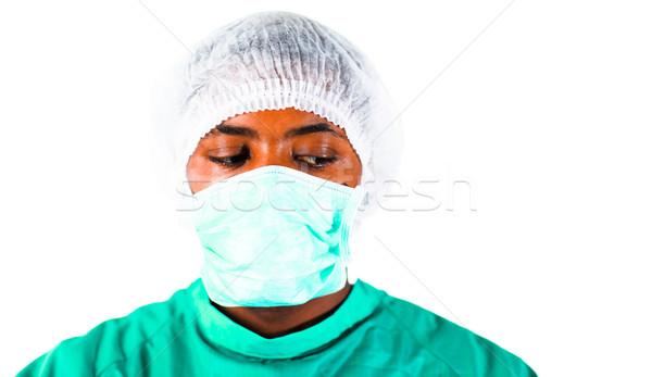 Sebész idős kórház arc orvos munka Stock fotó © wavebreak_media