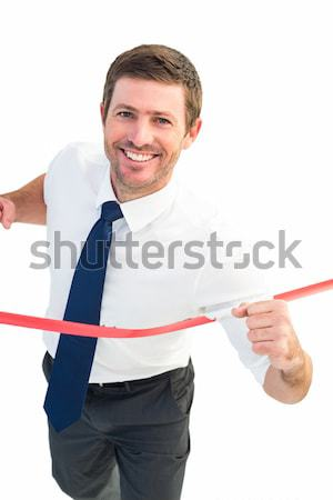 Positivo empresario pulgar hasta oficina mano Foto stock © wavebreak_media