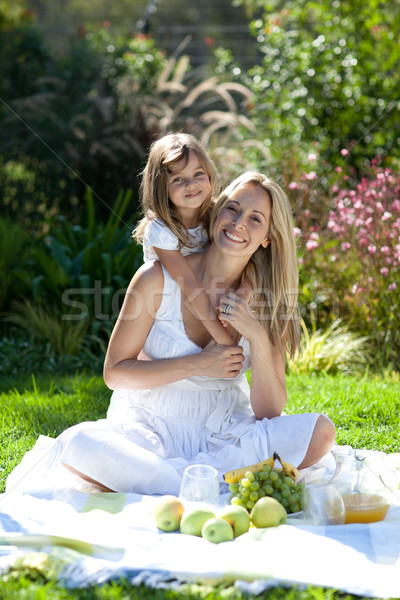 Handsome young mother with her daugther in summer outdoors  Stock photo © wavebreak_media