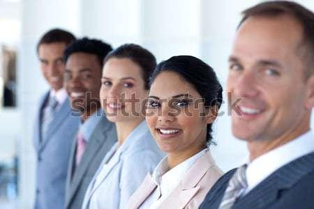 Portrait ambitieux équipe commerciale travaux bureau heureux Photo stock © wavebreak_media