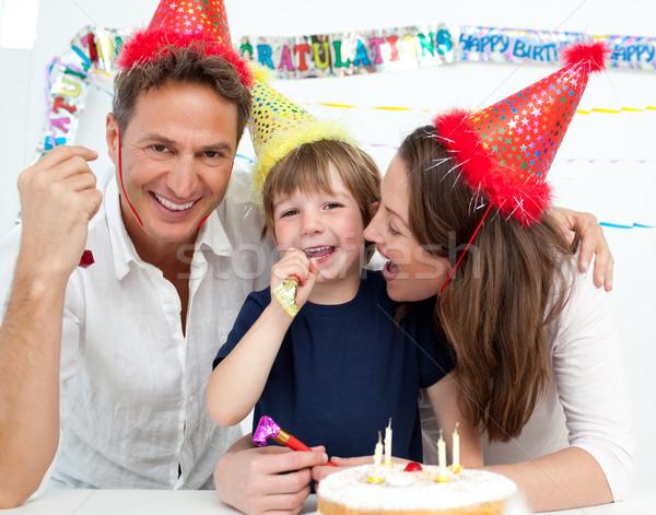 Portré család ünnepel kicsi fiúk születésnap Stock fotó © wavebreak_media