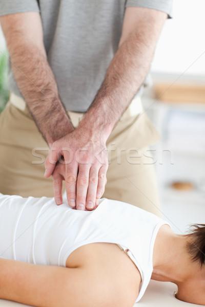 массажист назад хирургии стороны спорт тело Сток-фото © wavebreak_media