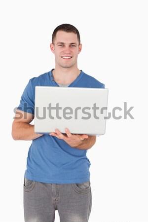 портрет человека ноутбука белый компьютер Сток-фото © wavebreak_media