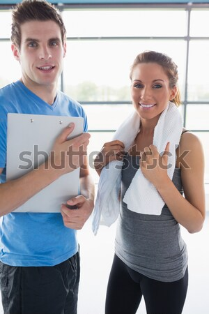 Couple going to practice sport against a white background Stock photo © wavebreak_media
