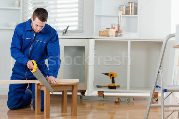 小さな 便利屋 木板 キッチン 家 ストックフォト © wavebreak_media