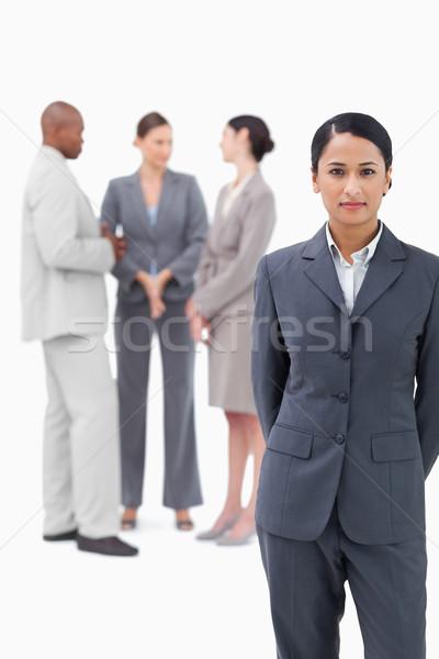 Kobieta interesu handlowy partnerów za biały Zdjęcia stock © wavebreak_media