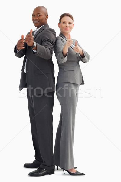 деловые люди бизнеса улыбка бизнесмен весело Сток-фото © wavebreak_media