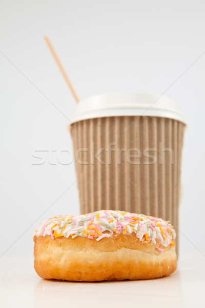 Buñuelo taza té junto blanco Foto stock © wavebreak_media