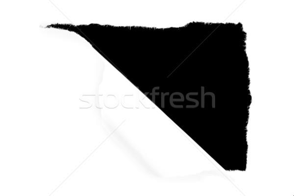 Buco carta bianco sfondo Foto d'archivio © wavebreak_media