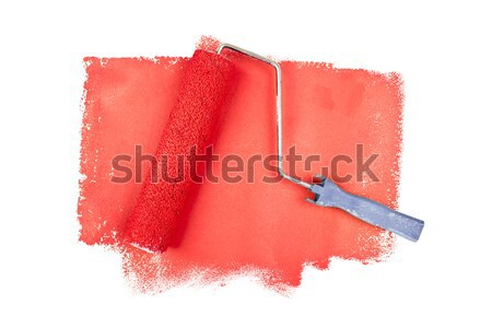 One red trace of painting against a white background Stock photo © wavebreak_media