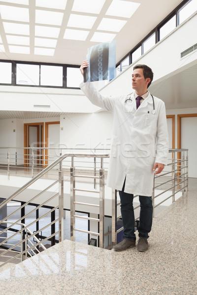 Lekarza xray szpitala korytarz spaceru folderze Zdjęcia stock © wavebreak_media