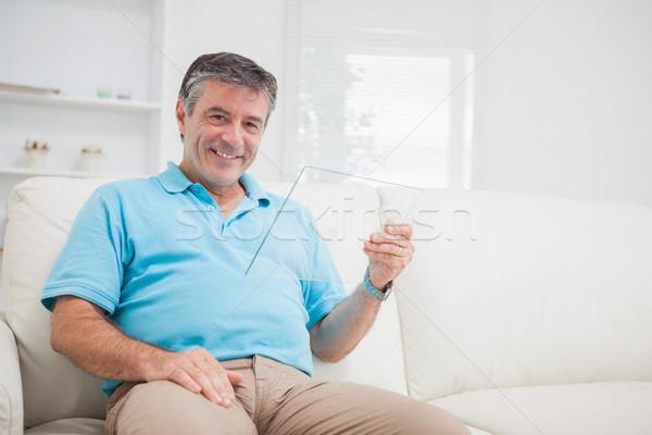 男 座って ソファ ストックフォト © wavebreak_media