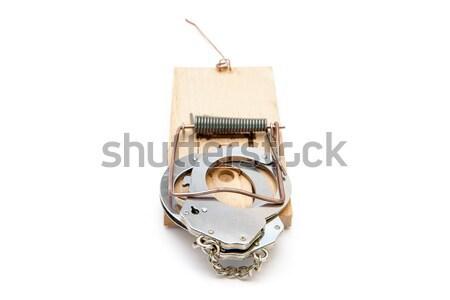 белый цепь объект серебро белом фоне Сток-фото © wavebreak_media