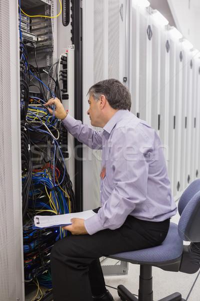 Técnico clipboard servidores retrato poder Foto stock © wavebreak_media