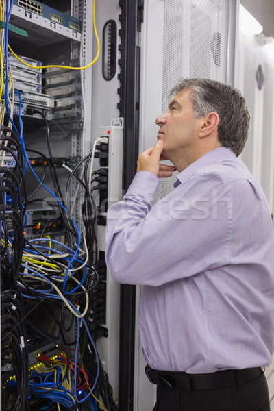 Technician searching for a solution in the server case Stock photo © wavebreak_media