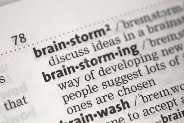 мозговая атака определение словарь бизнеса бумаги концепция Сток-фото © wavebreak_media