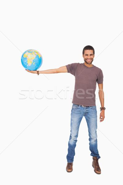 Knappe man uit wereldbol witte man Stockfoto © wavebreak_media