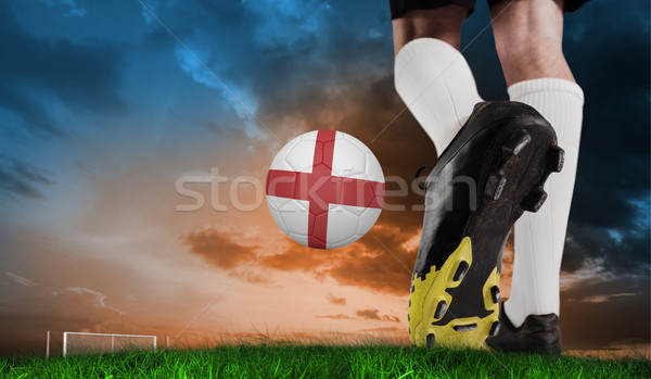összetett kép futball csizma rúg Anglia Stock fotó © wavebreak_media