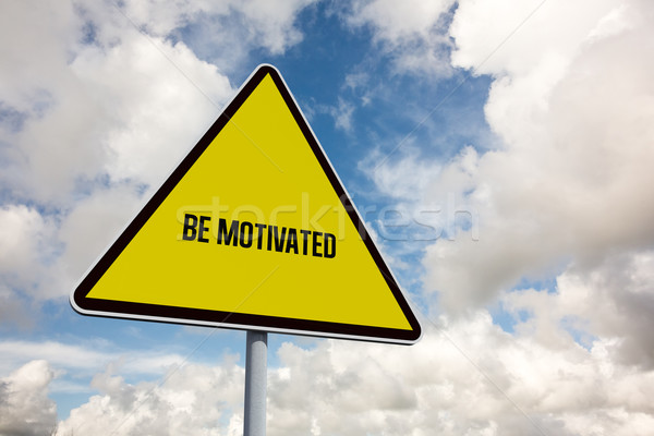 Be motivated against blue sky with white clouds Stock photo © wavebreak_media
