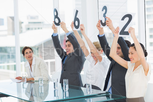 Puntuación signos grupo panel Foto stock © wavebreak_media