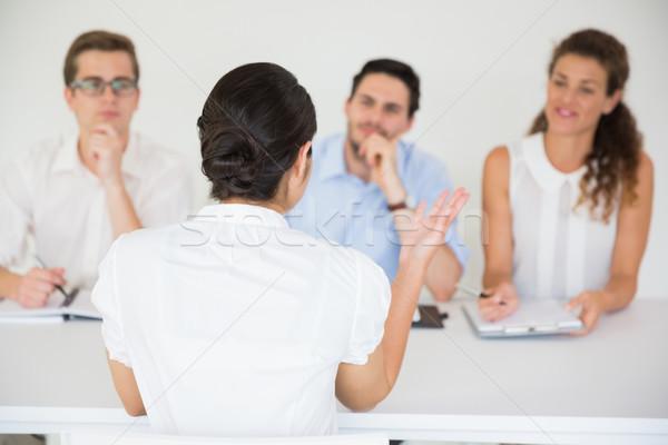 Jelölt interjú női iroda üzlet dolgozik Stock fotó © wavebreak_media
