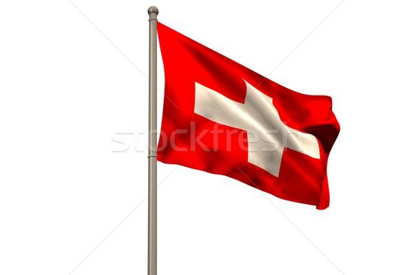 Digitalmente generado bandera blanco Foto stock © wavebreak_media
