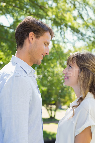Attractive couple smiling at each other in the park Stock photo © wavebreak_media
