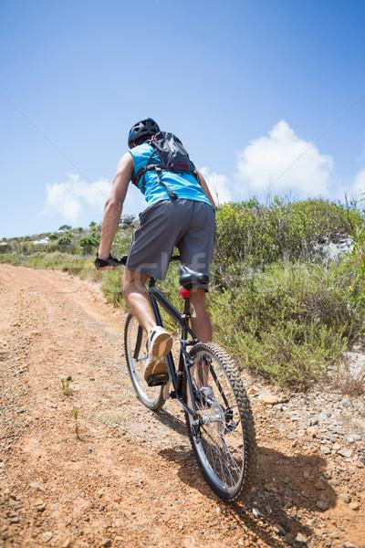 соответствовать человека Велоспорт вверх горные тропе Сток-фото © wavebreak_media