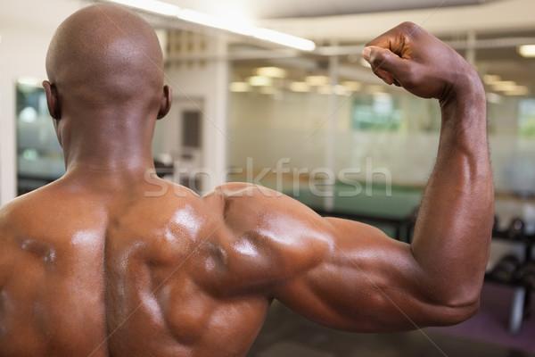 Muscular homem músculos ginásio sem camisa Foto stock © wavebreak_media
