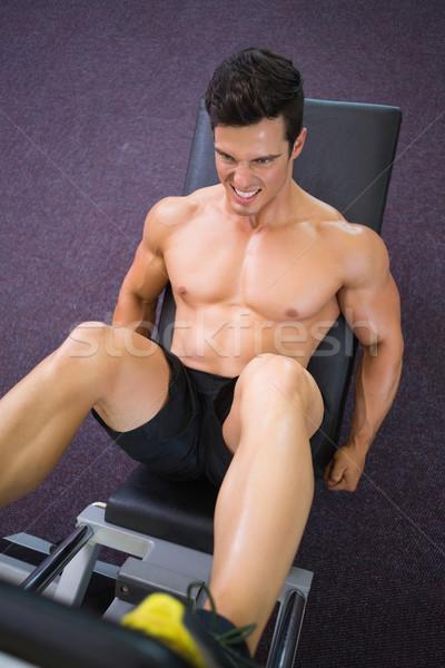 Mężczyzna nogi siłowni widoku Zdjęcia stock © wavebreak_media