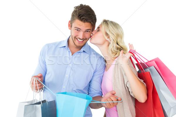 魅力的な ショッピングバッグ 白 愛 ストックフォト © wavebreak_media