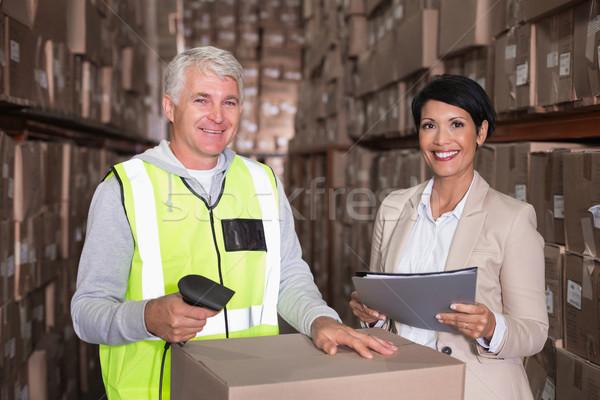 Halle Arbeitnehmer Feld Manager groß Business Stock foto © wavebreak_media