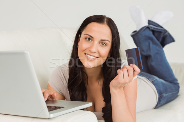 Woman ordering shopping from online Stock photo © wavebreak_media