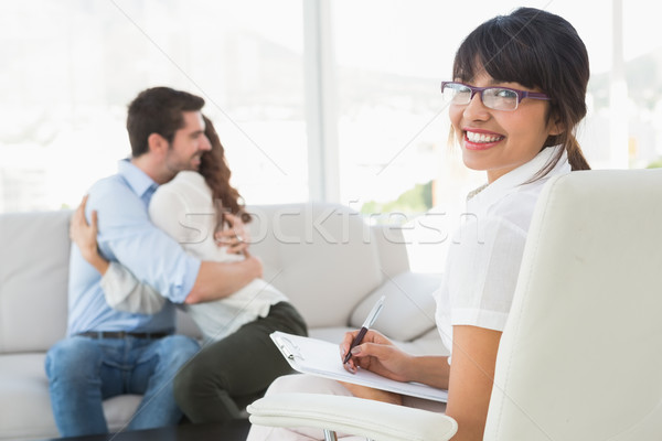 улыбаясь терапевт за служба счастливым Сток-фото © wavebreak_media