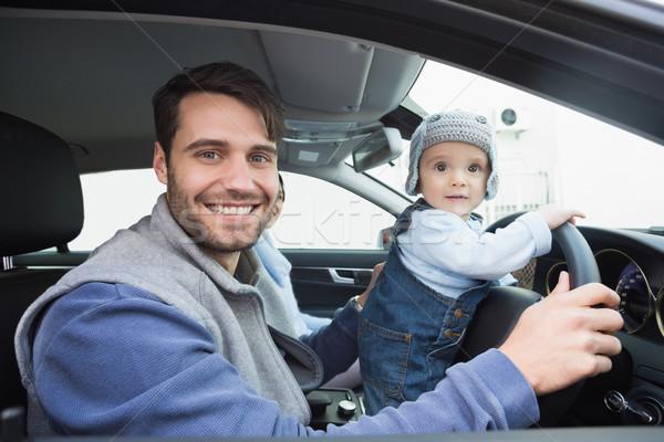 Jovem família conduzir carro diversão menino Foto stock © wavebreak_media