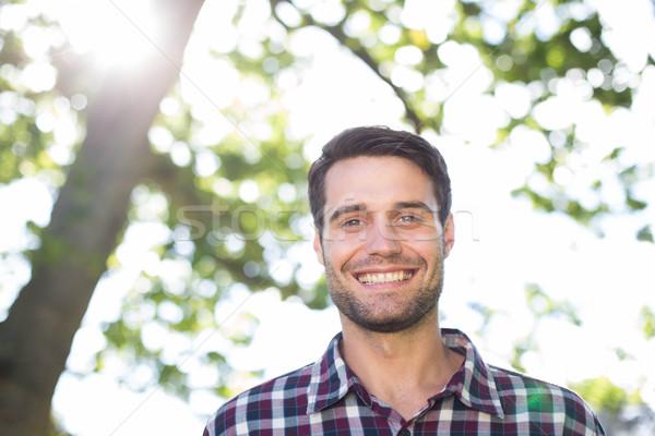 Mutlu genç park adam yaz Stok fotoğraf © wavebreak_media