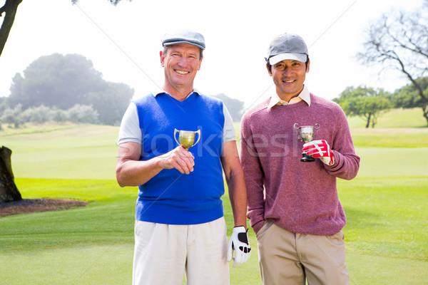 Foto d'archivio: Golf · amici · coppe · sorridere · fotocamera