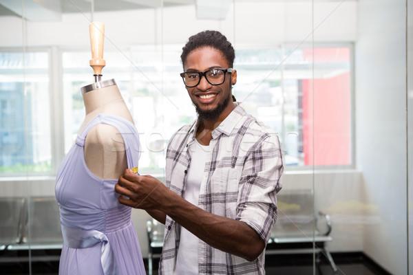 Сток-фото: мужчины · моде · дизайнера · манекен · портрет · счастливым